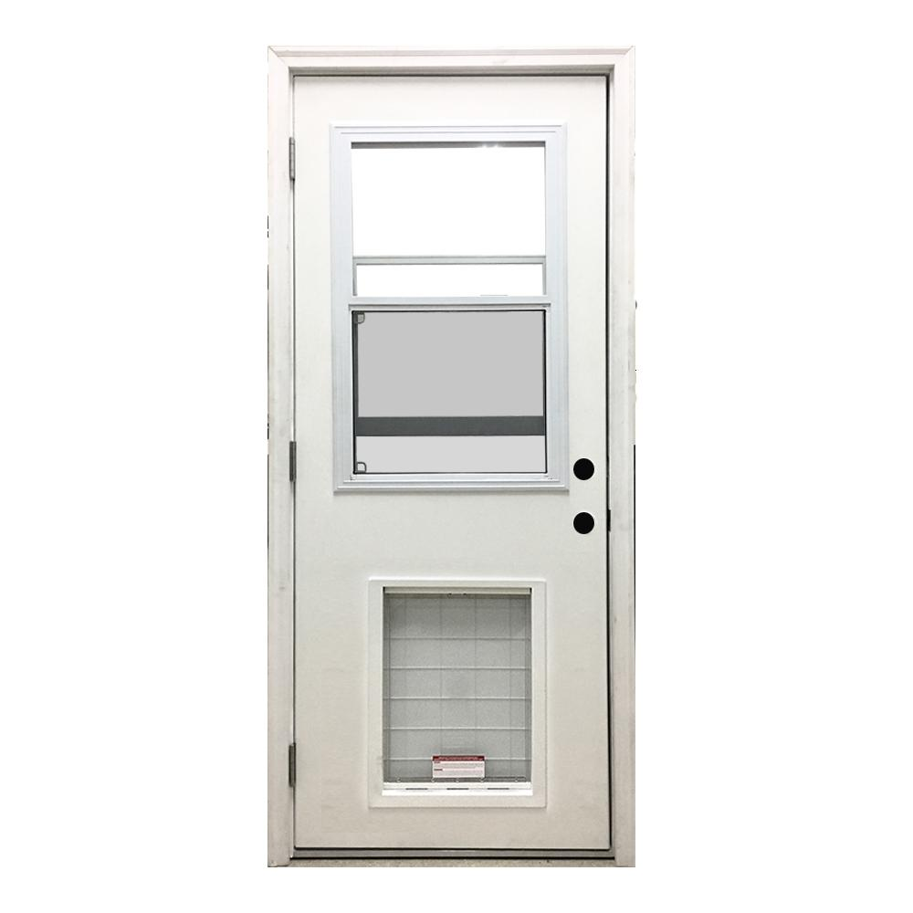 Classic Vented Half Lite RHOS White  sc 1 st  The Home Depot & Steves u0026 Sons 36 in. x 80 in. Classic Vented Half Lite RHOS White ... pezcame.com