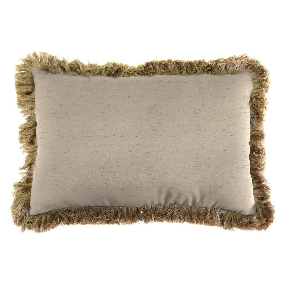Sunbrella 9 in. x 22 in. Frequency Sand Lumbar Outdoor Pillow