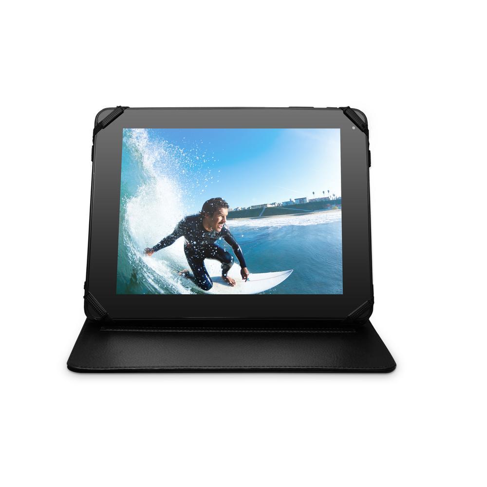 EMATIC Universal Tablet Folio Case, Black