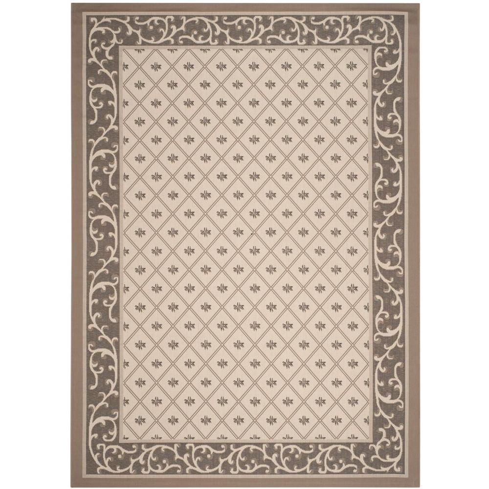 Courtyard Beige/Dark Beige 9 ft. x 12 ft. Indoor/Outdoor Area Rug