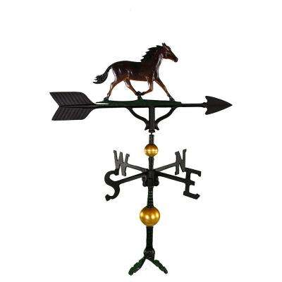 32 in. Deluxe Black Horse Weathervane