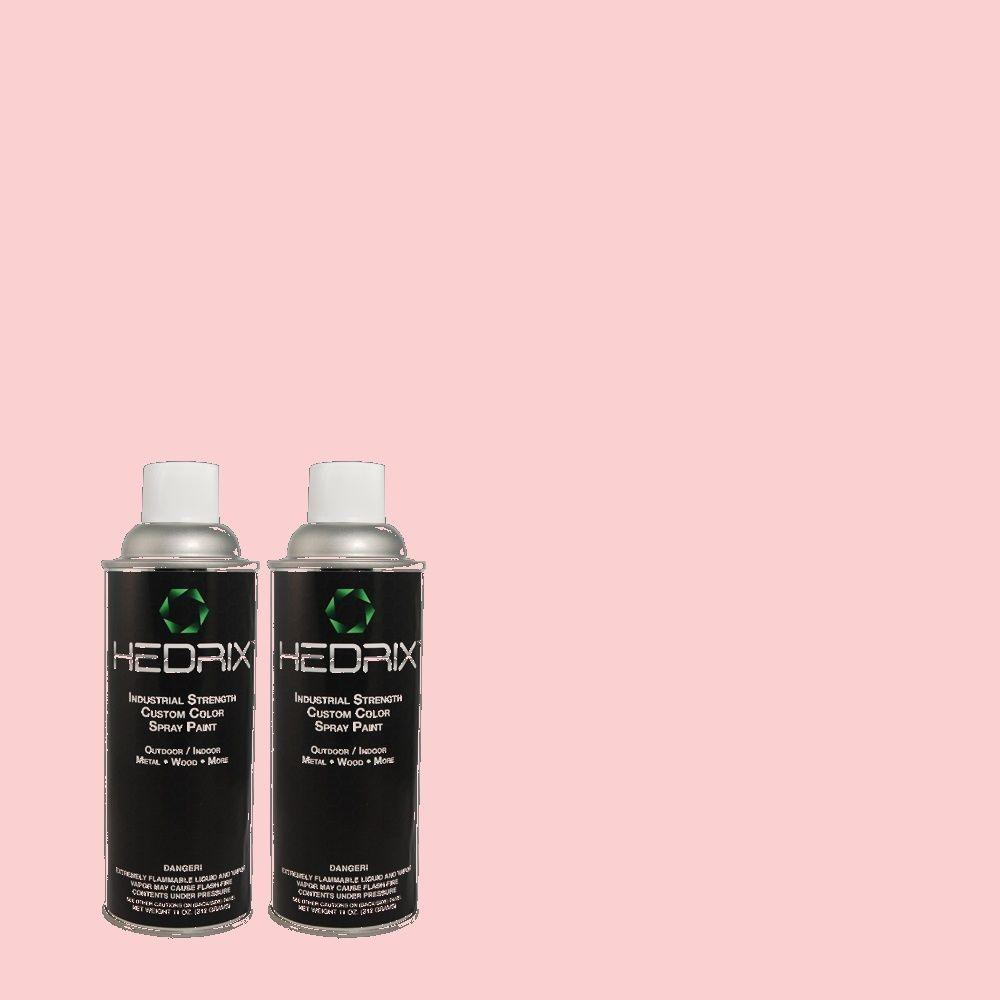 Hedrix 11 oz. Match of 1A28-3 Geranium Pink Semi-Gloss Custom Spray Paint (2-Pack)