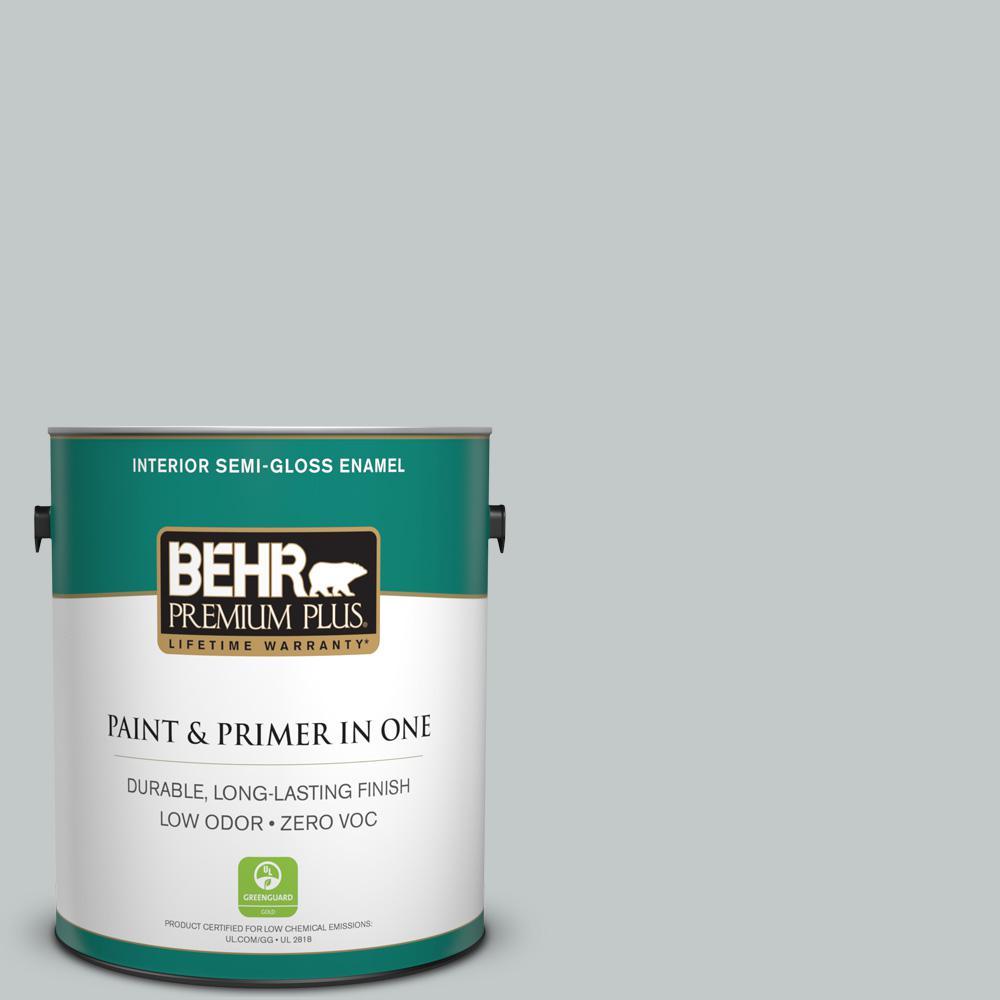 BEHR Premium Plus 1-gal. #N450-2 Zero Gravity Semi-Gloss Enamel Interior Paint