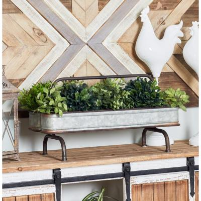 Gray Iron and Zinc Double Planter