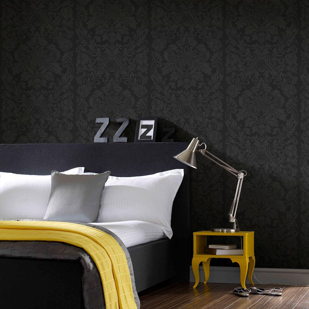 Black Gloriana Removable Wallpaper