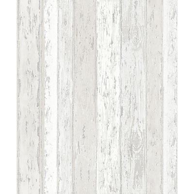 Cannon Cream Distressed Wood Peelable Roll (Covers 56.4 sq. ft.)