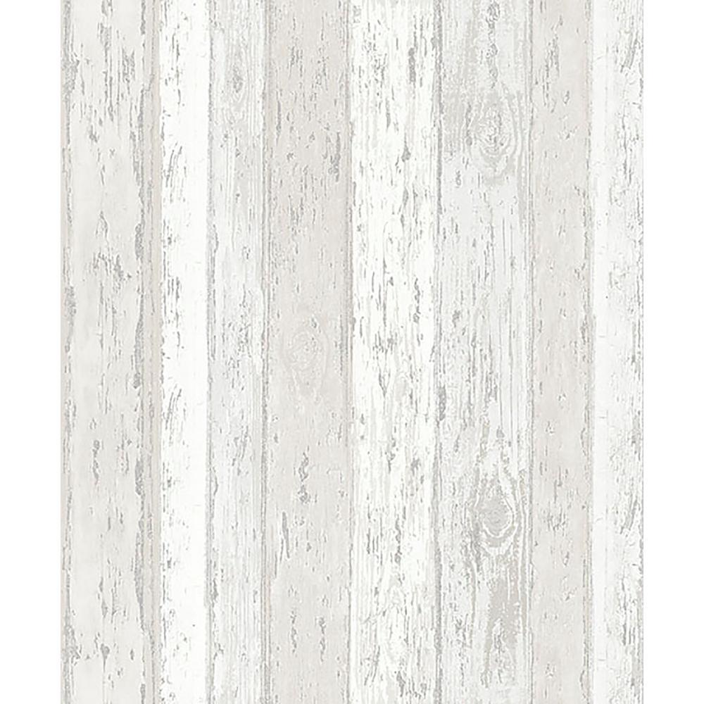 Cannon Cream Distressed Wood Sample Cream Wallpaper Sample