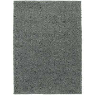 Posh Shag Blue 5 ft. 3 in. x 7 ft. 3 in. Area Rug
