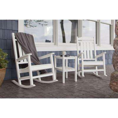 Presidential White 3-Piece Patio Rocker Set