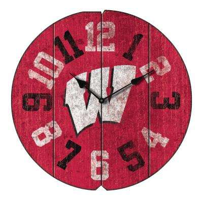 University of Wisconsin Vintage Round Clock