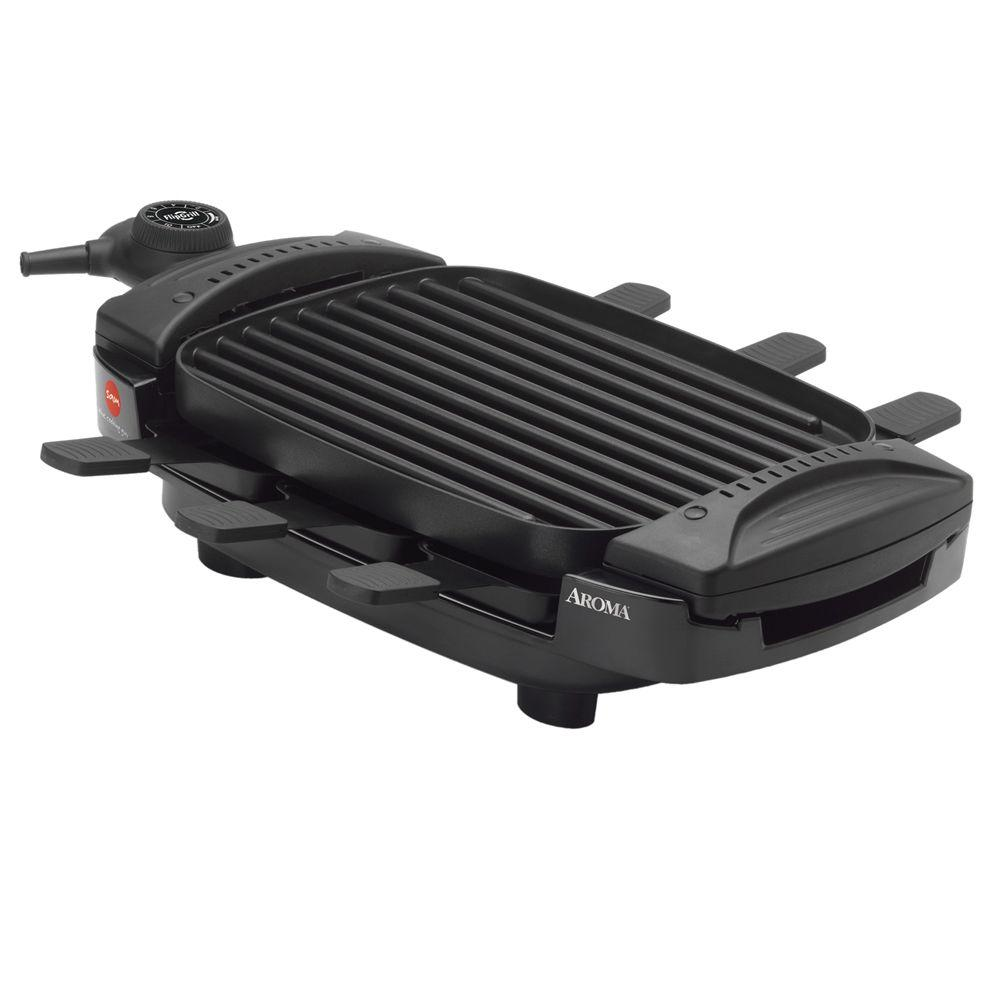 AROMA Dual Flip Grill and Griddle with Raclette