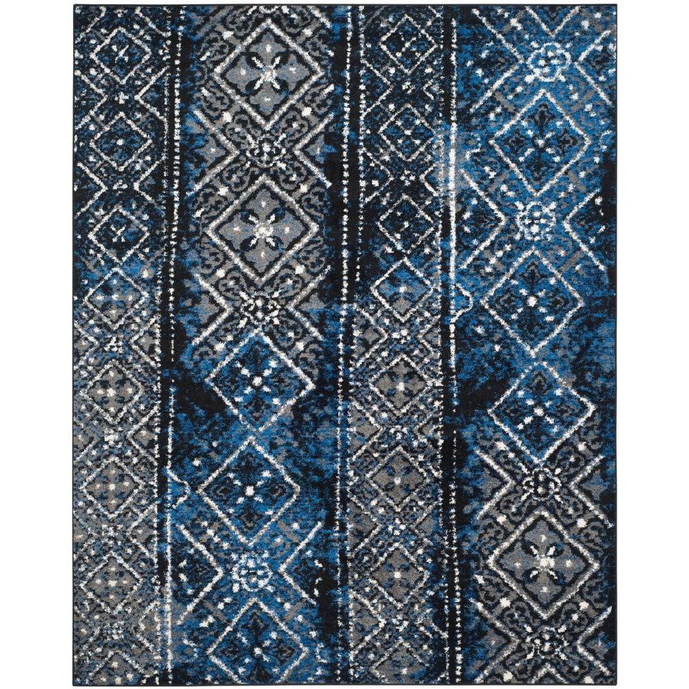 Safavieh Adirondack Silver Black 9 Ft X 12 Ft Area Rug Adr111a 9
