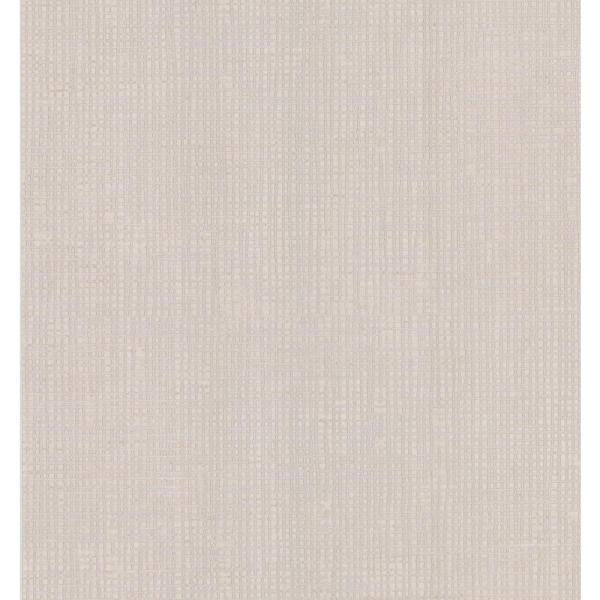 Brewster Simple Space Beige Woven Effect Wallpaper Sample