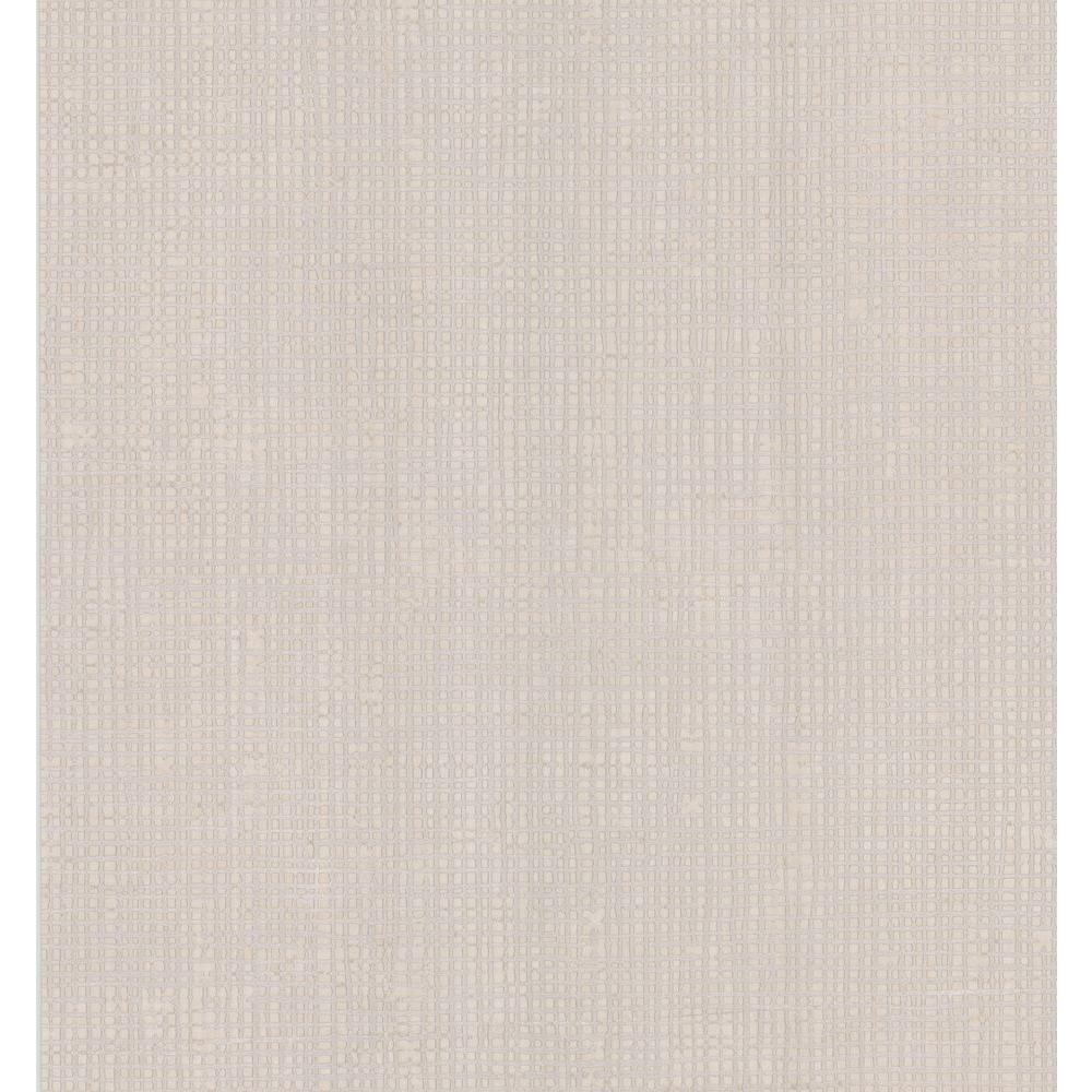 Simple Space Beige Woven Effect Wallpaper Sample