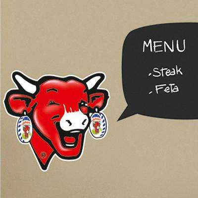 Multi-Color Laughing Cow Wall Decals