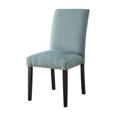 Gregory Light Green Linen Side Chair