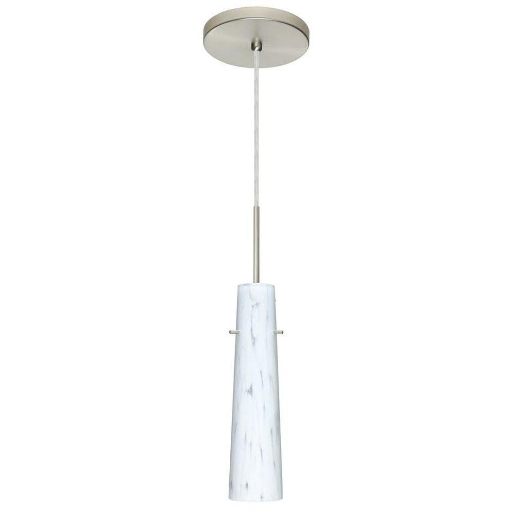Filament Design Manhattan 1-Light Satin Nickel Pendent-CLI