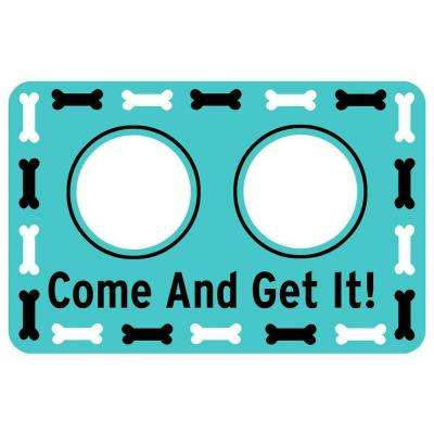 Printed Come and Get It 17.5 in. x 26.5 in. Pet Mat