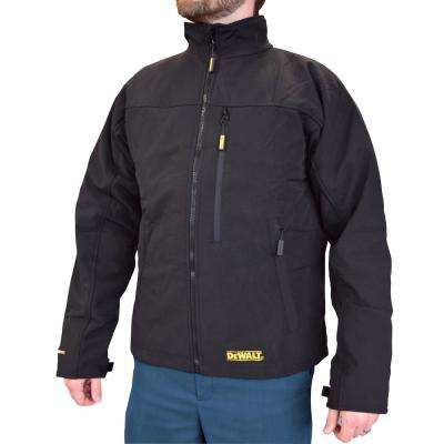 Men's Large 20V MAX XR Lithium Ion Black Soft Shell Jacket kit with 2.0Ah Battery and Charger