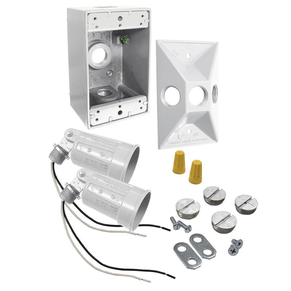 1-Gang Weatherproof Par Lampholder Kit