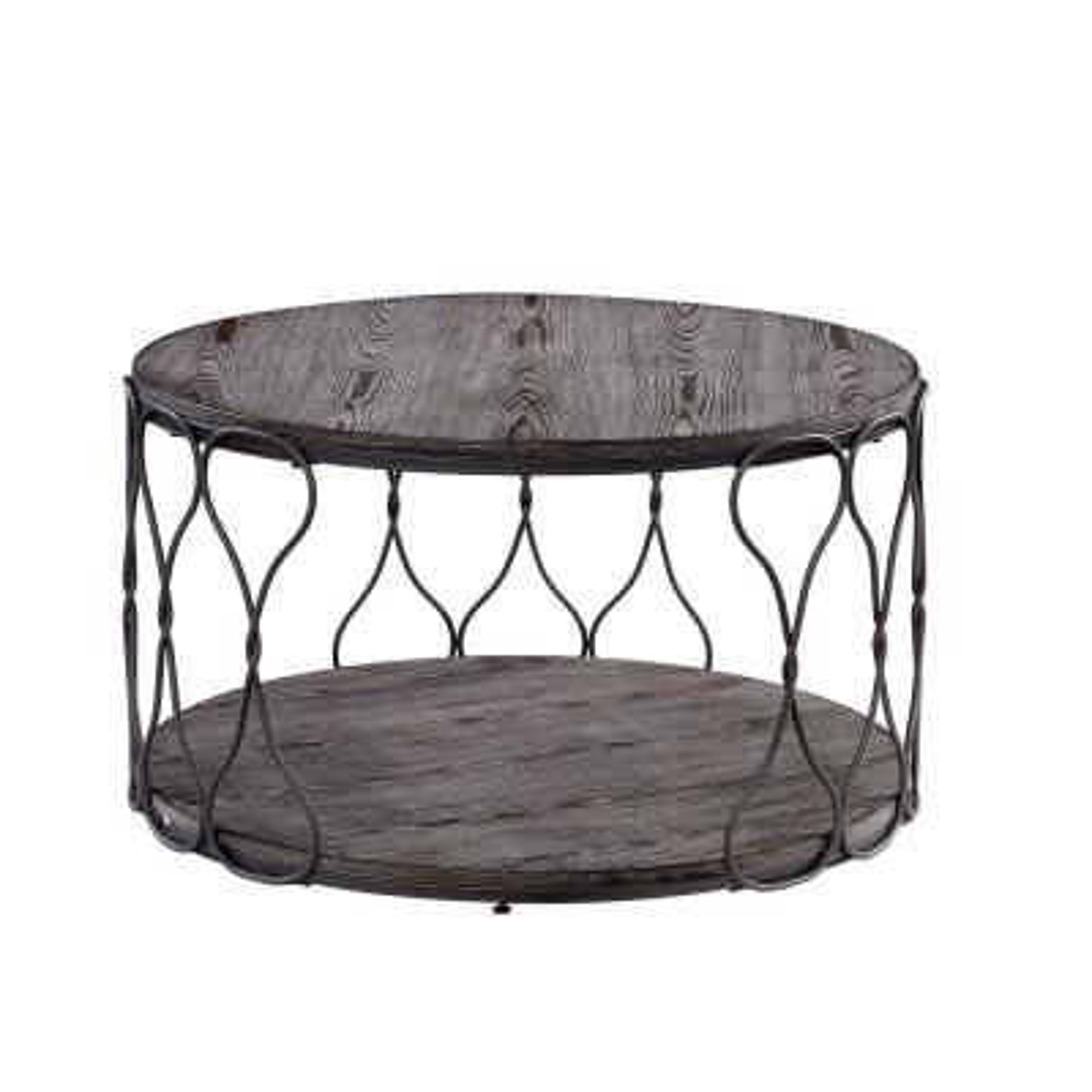 Octavia Gray Round Coffee Table