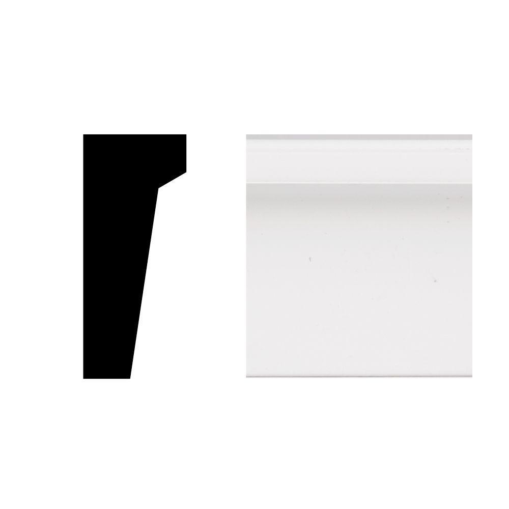 Veranda 2449 11 16 In X 1 5 8 In X 8 Ft Primed White Pvc Drip Cap