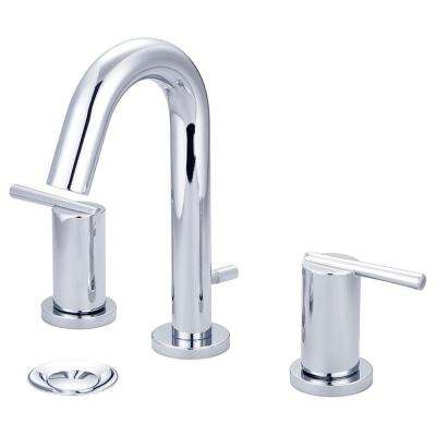 i2v 8 in. Widespread 2-Handle Bathroom Faucet with Brass Pop Up in Polished Chrome