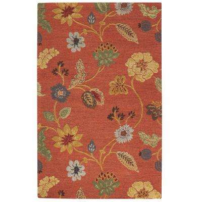 Portico Red 5 ft. x 8 ft. Area Rug