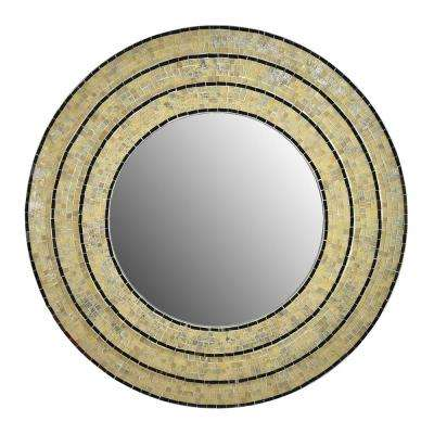 Sahlu Cream Mosaic Mirror