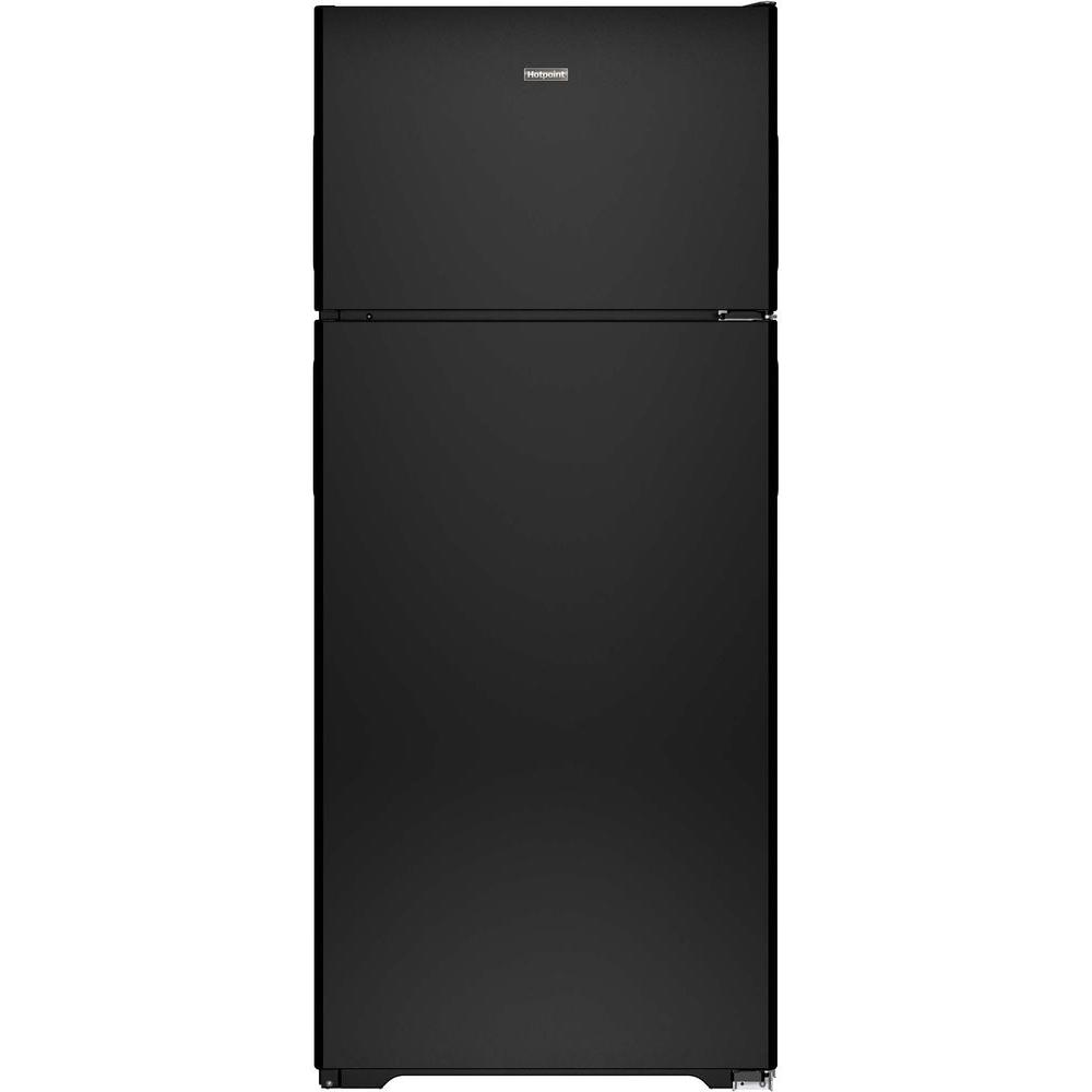 Top Freezer Refrigerator In Black