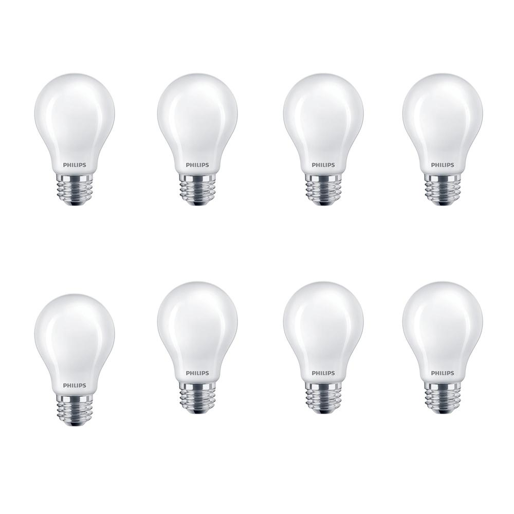 Philips 40-Watt Equivalent A19 Non-Dimmable Enregy Saving Frosted Classic Glass LED Light Bulb Daylight (5000K) (8-Pack)