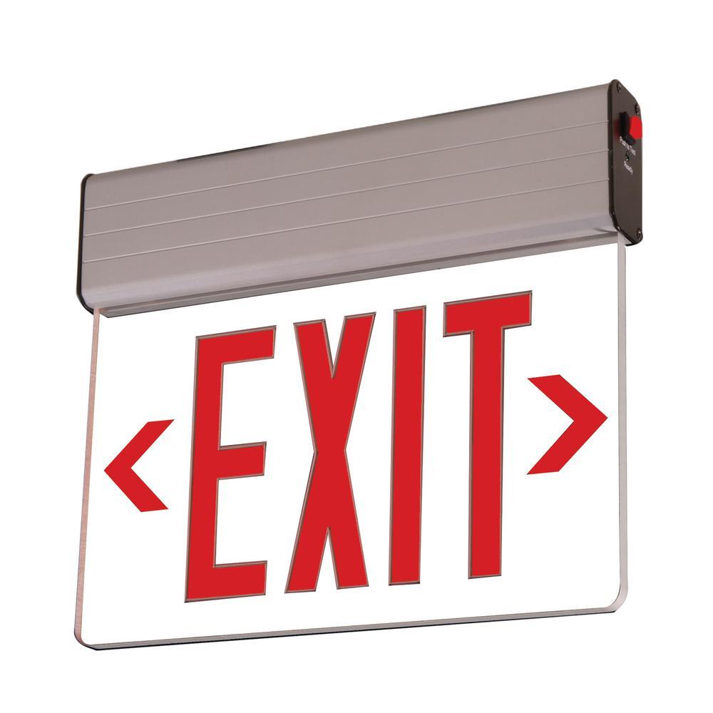 Sure Lites Eu 25 Watt Silver Integrated Led Exit Sign In