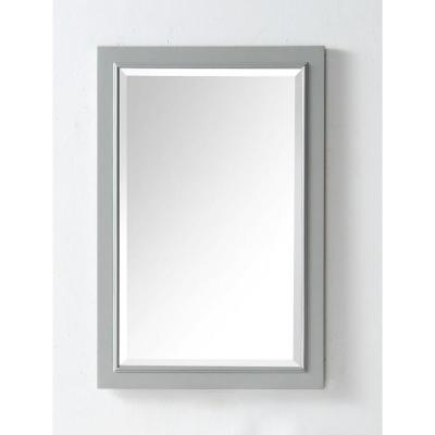 24 in. x 36 in. Framed Wall Mirror in Cool Gray