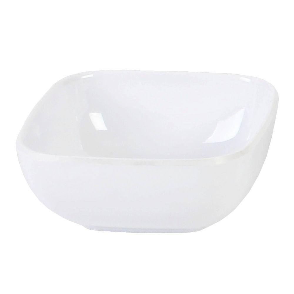 Restaurant Essentials Jazz 5 oz., 3-1/2 in. x 3-1/2 in. Round Square Bowl, 1-1/2 in. Deep in White (1-Piece)