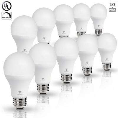 75-Watt Equivalent A19 Dimmable 1,055-Lumens LED Light Bulb Daylight (10-Pack)