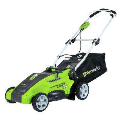 16 in. 10 Amp Corded Electric Walk Behind Push Mower