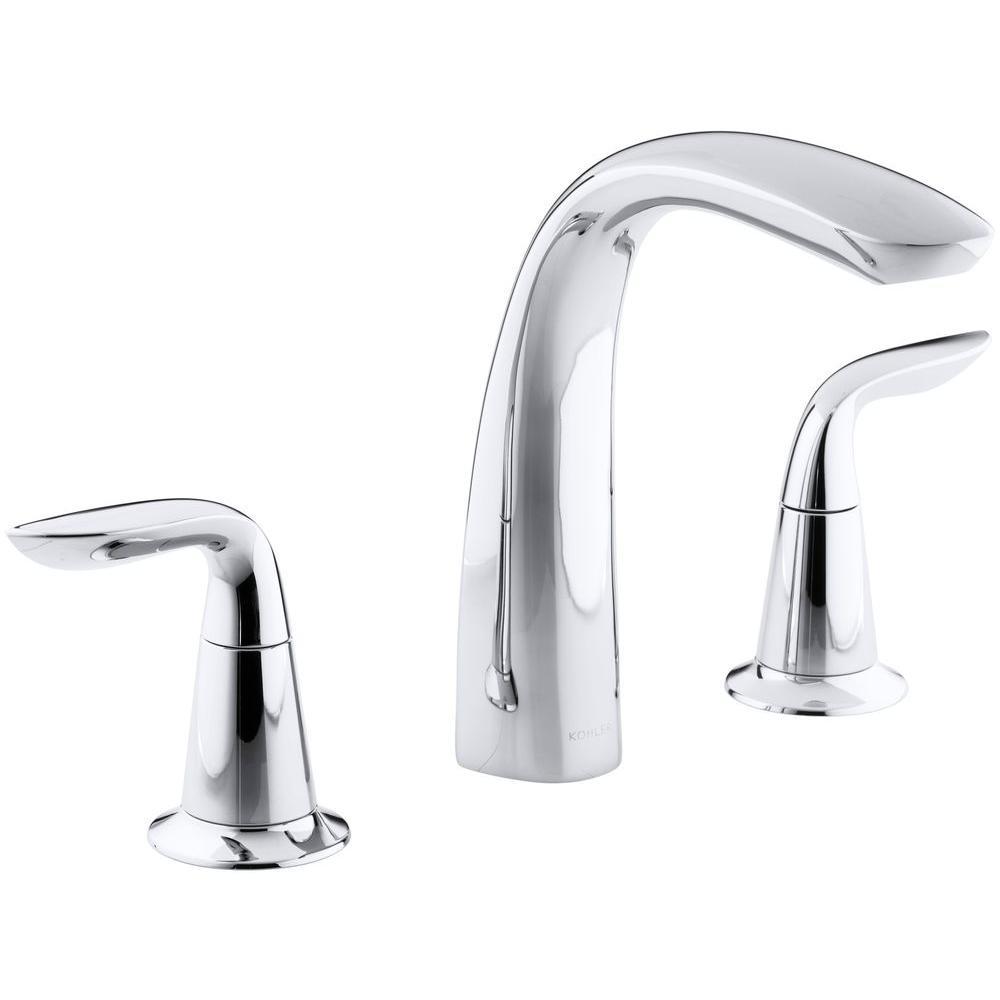 Kohler Refinia 2 Handle Deck Mount Bath Faucet Trim Kit In Polished