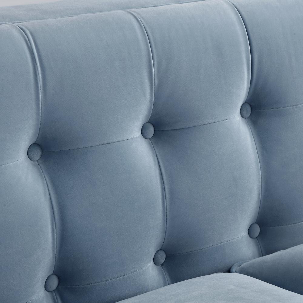 Surprising Inspired Home Miah Slate Blue Velvet Sofa With Button Tufted Ibusinesslaw Wood Chair Design Ideas Ibusinesslaworg