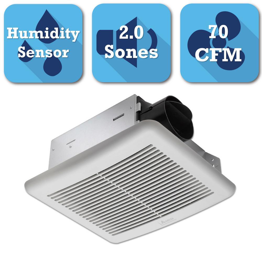 delta breez slim series 70 cfm ceiling bathroom exhaust. Black Bedroom Furniture Sets. Home Design Ideas