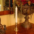 LumaCandle 14 in. H Gold Base Taper LED Action Resin Candle (Set of 2)