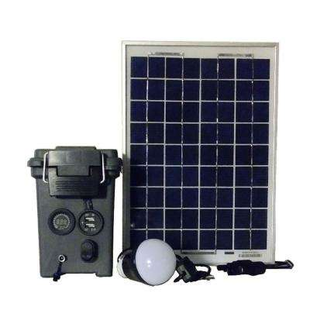 10watt offgrid solar powered portable generator with solar panel kit