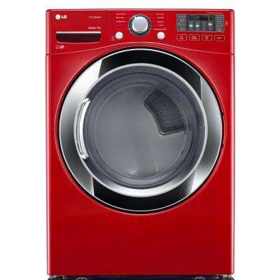 7.4 cu. ft. Electric Dryer with Steam in Wild Cherry Red, ENERGY STAR