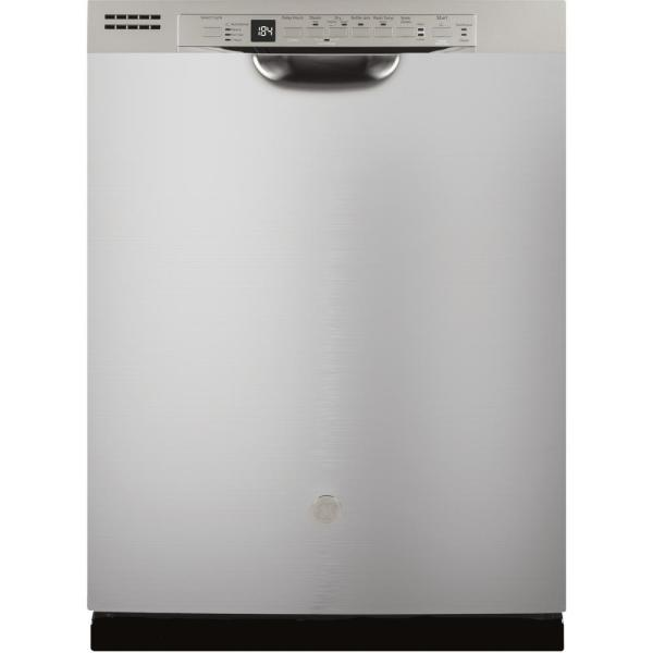 GE 24 in. Front Control Built-In Tall Tub Dishwasher in Stainless Steel with Stainless Interior Door and 3rd Rack, 50 dBA