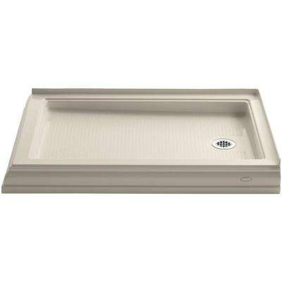 Memoirs 48 in. x 34 in. Double Threshold Shower Base in Almond