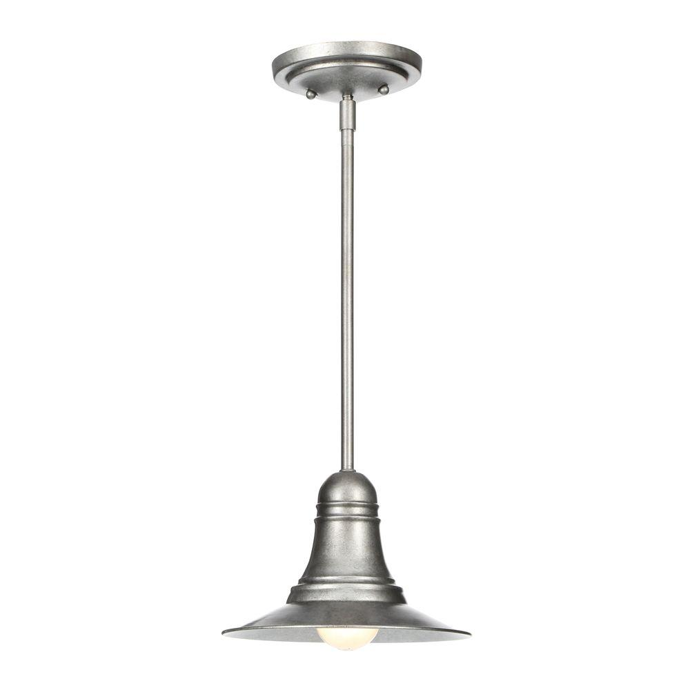 Gray pewter pendant lights lighting the home depot urban renewal 1 light antique pewter mini pendant aloadofball Gallery