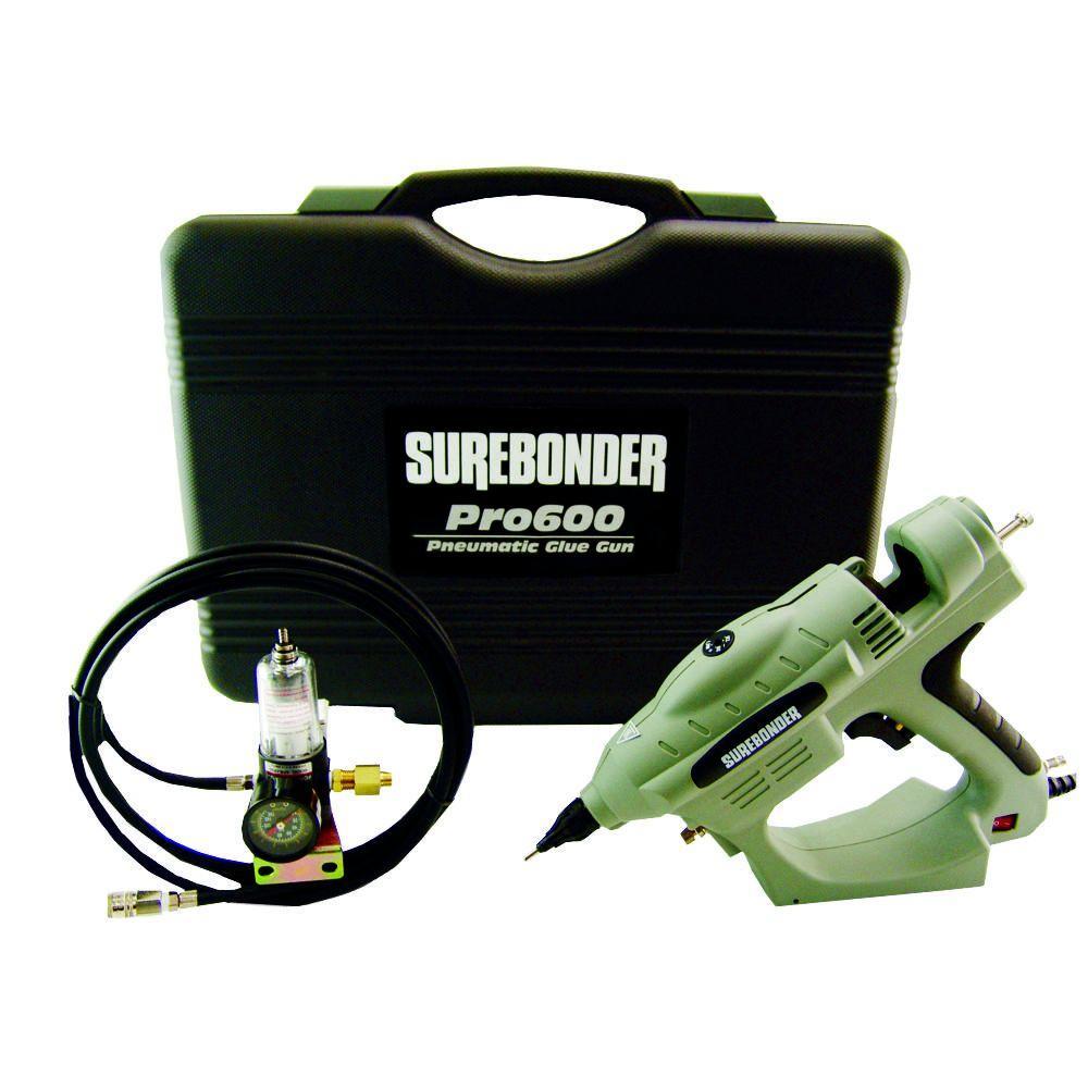 Surebonder Pneumatic 0.625 in. D x 10 in. L 450-Watt Adjustable Temperature Industrial Heater-Uses Glue Gun with Glue Sticks