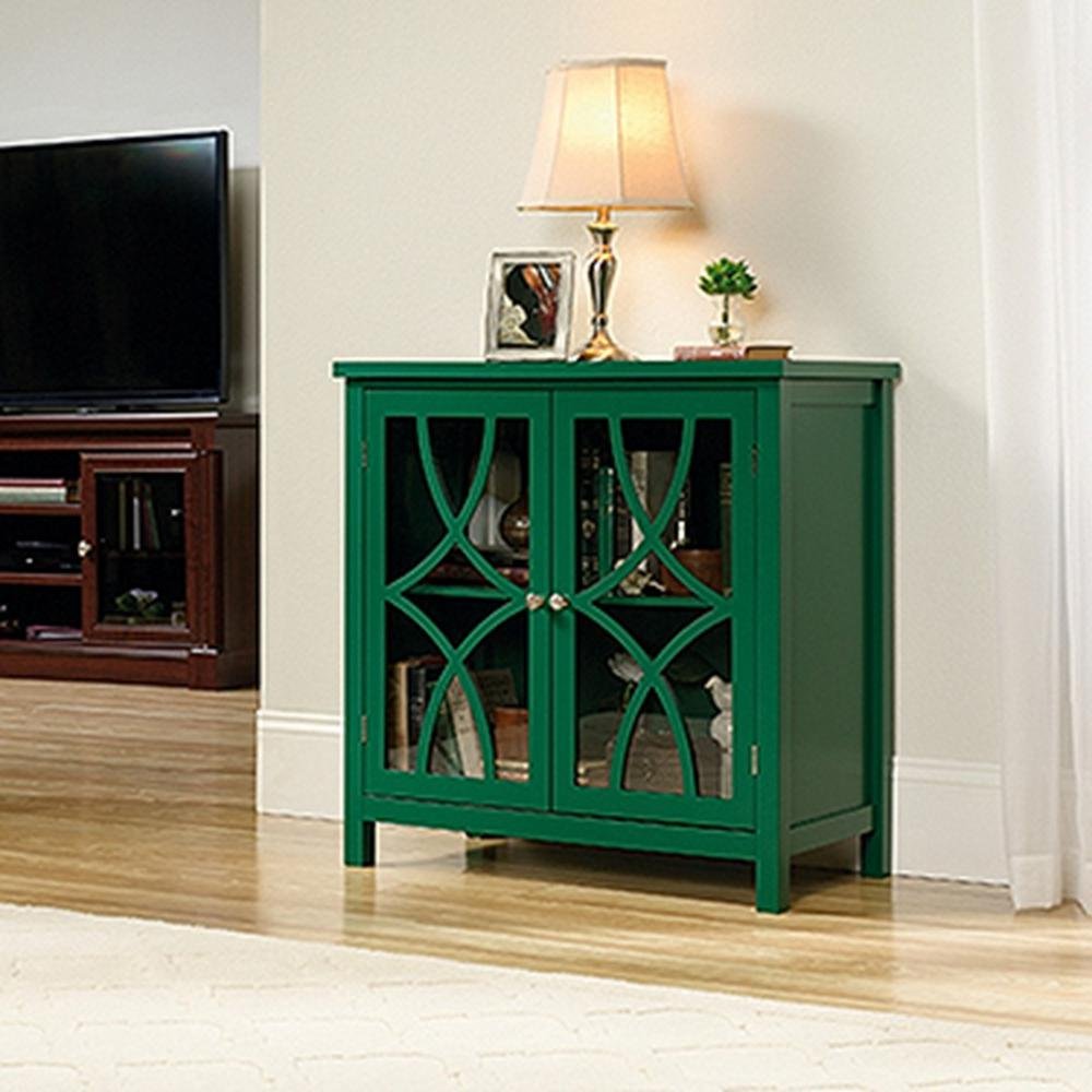 SAUDER Palladia Collection Emerald Green Accent Storage Cabinet & SAUDER Palladia Collection Emerald Green Accent Storage Cabinet ...