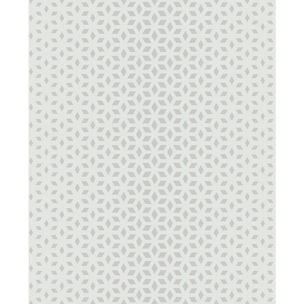 Whiston Grey Geometric Wallpaper Sample