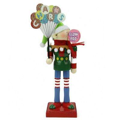 11 in. Prince Charms Blow Pop Wooden Elf Christmas Figure