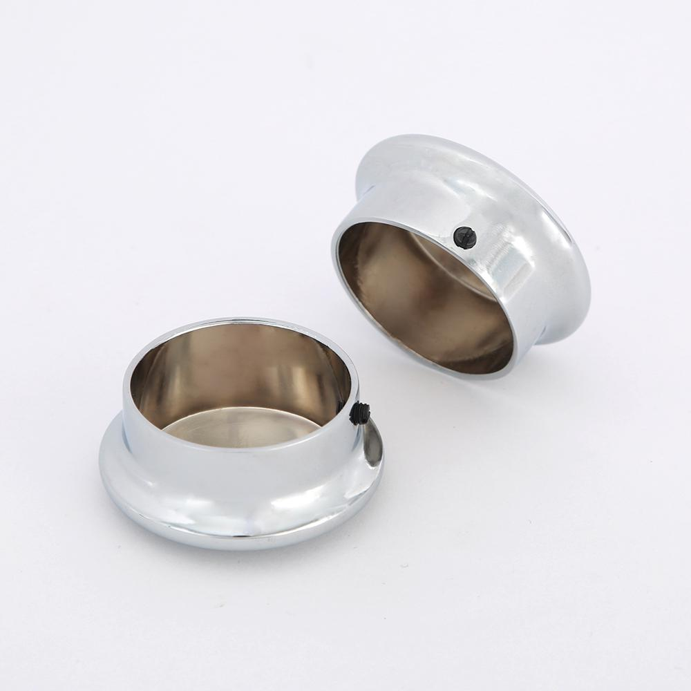 1-5/16 in. Heavy-Duty Chrome Closet Pole End Caps (2-Pack)